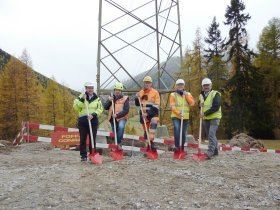 Ground-breaking ceremony Pradella – La Punt