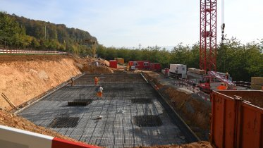 Transition structure south: reinforcement of the base plate