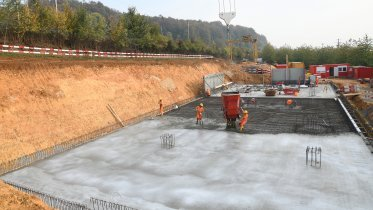 Transition structure south: concreting of the base plate