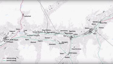 Animation of the Chippis – Mörel line